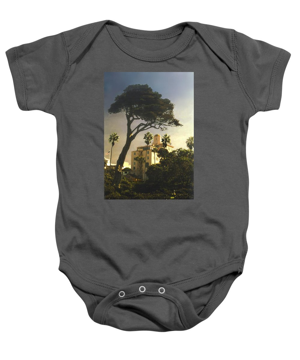 Landscape Baby Onesie featuring the photograph Hotel California- La Jolla by Steve Karol