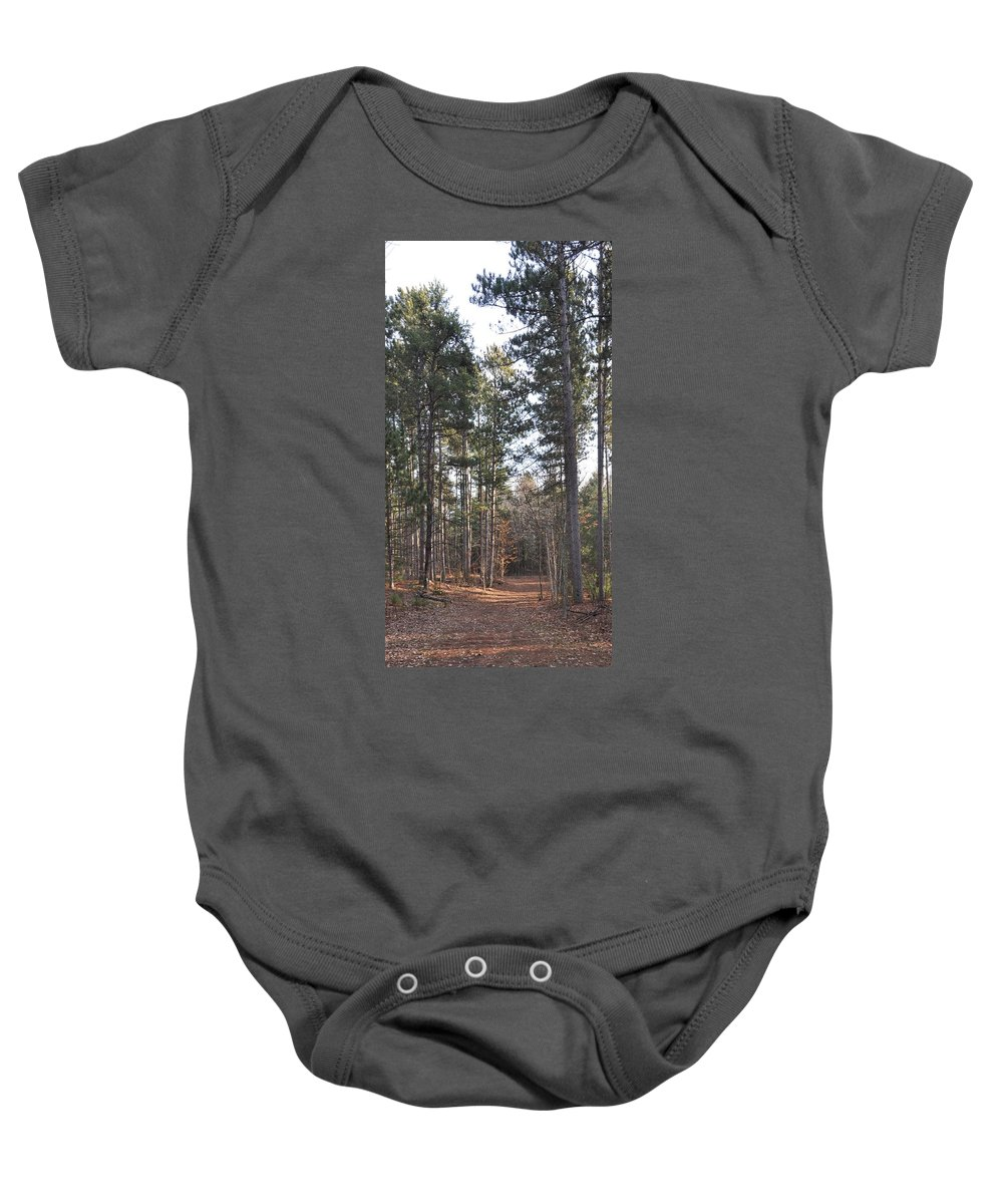 Forest Baby Onesie featuring the photograph Huckleberry Trail by Valerie Kirkwood