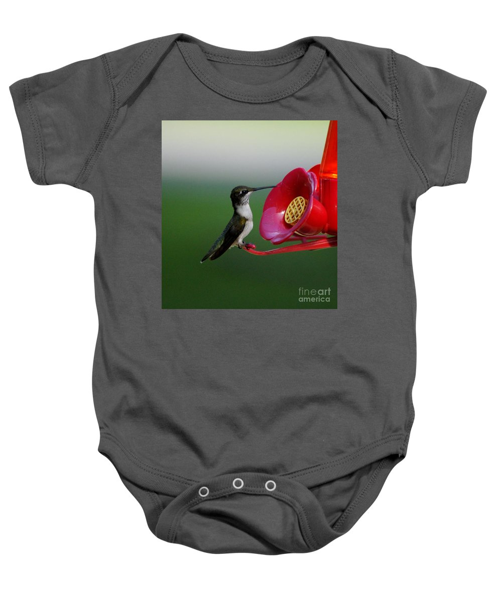 Bird Baby Onesie featuring the photograph Humming Bird by Evelyn Hill