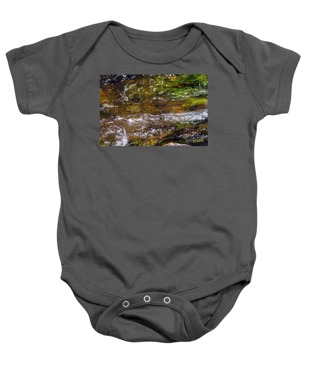 Inks Lake State Park Baby Onesie featuring the photograph Hydrotherapy by Bob Phillips