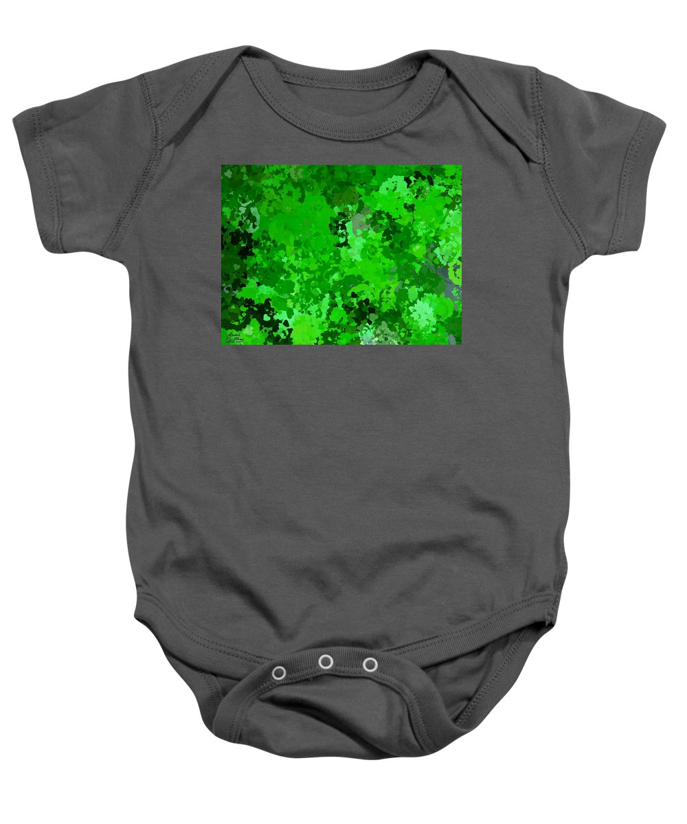 Hearts Baby Onesie featuring the painting I Love Green by Bruce Nutting