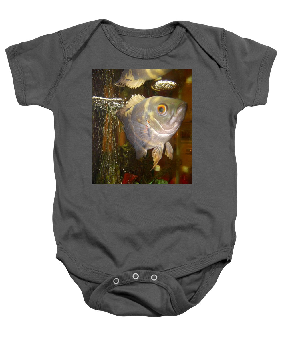 Oscar Baby Onesie featuring the photograph I See You by Shere Crossman