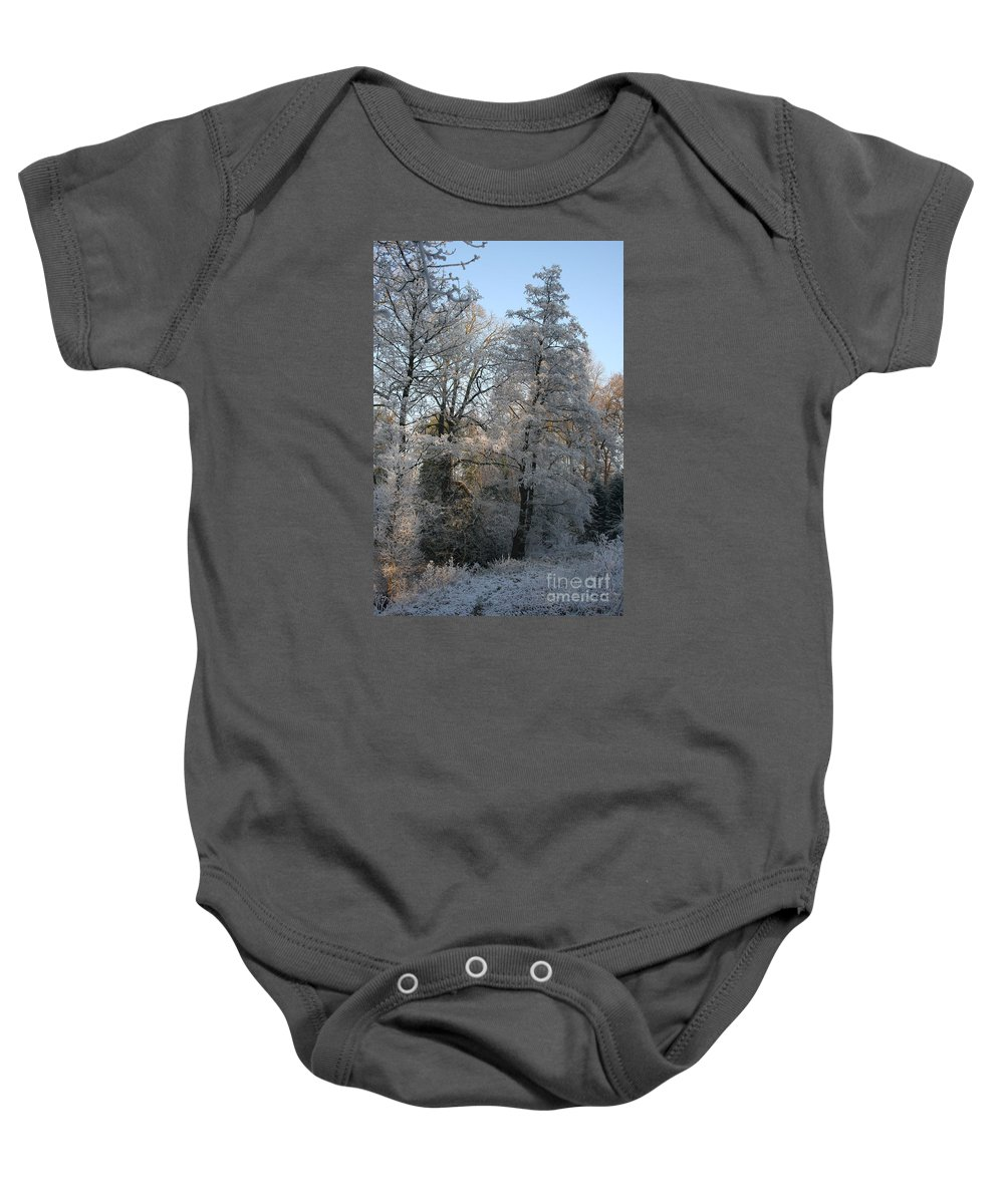 Ice Baby Onesie featuring the photograph Iced Trees by Christiane Schulze Art And Photography