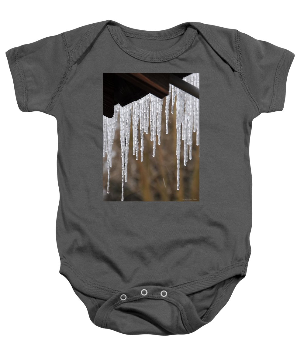 Icicles Baby Onesie featuring the photograph Icicles by Matt Taylor