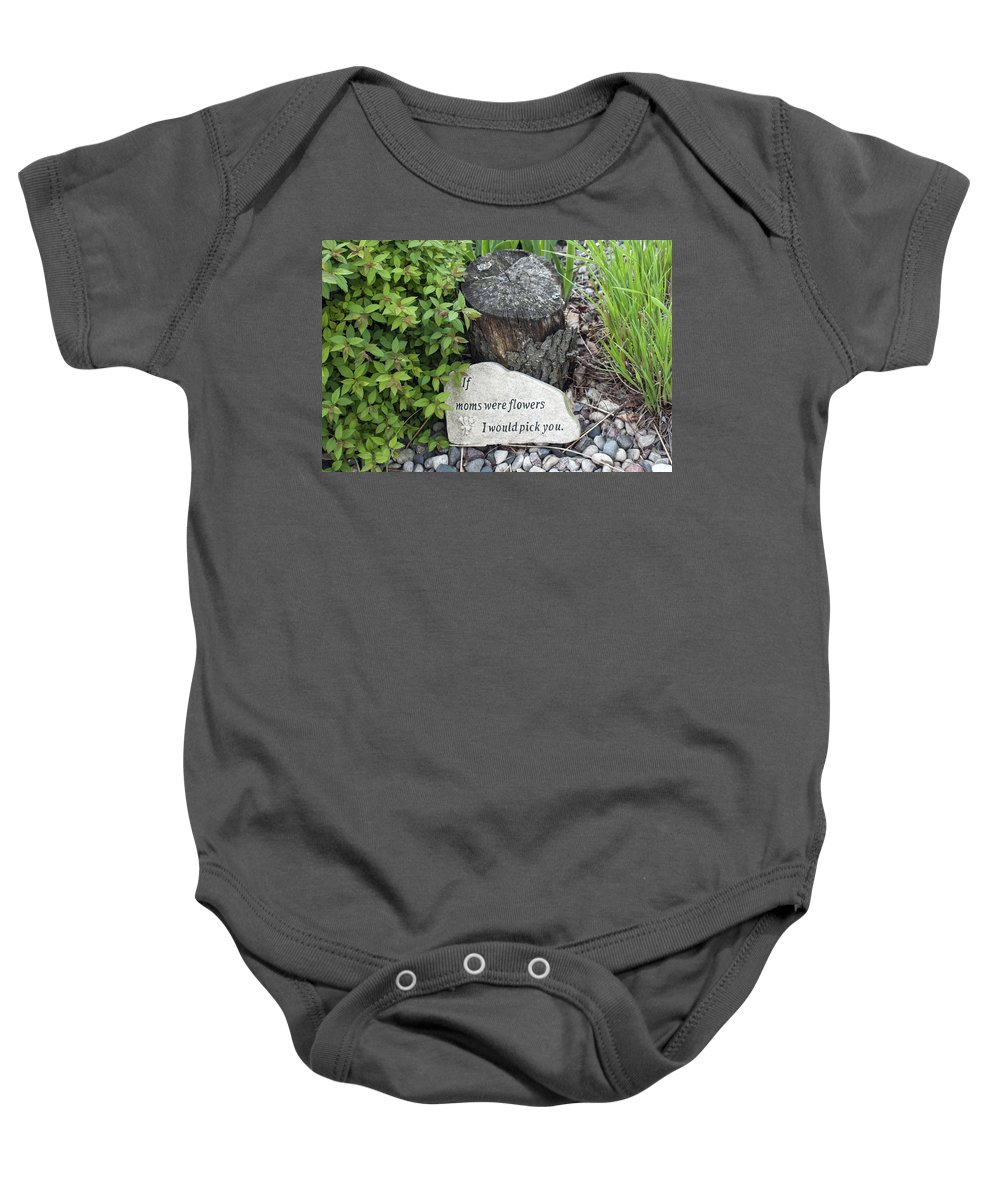 Mom Baby Onesie featuring the photograph If Moms Were Flowers... by Jayne Gohr