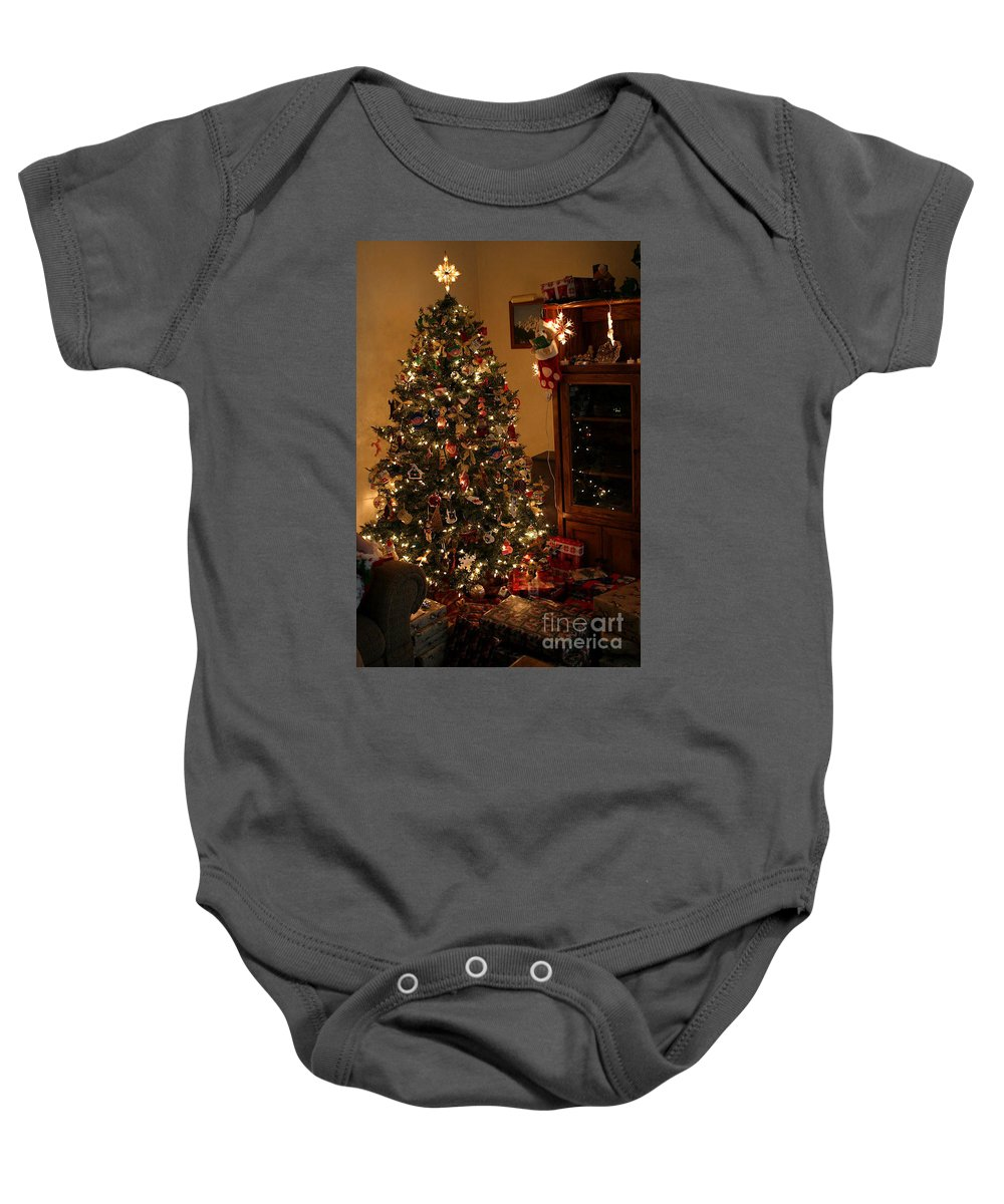 Christmas Baby Onesie featuring the photograph I'll Be Home For Christmas by Living Color Photography Lorraine Lynch