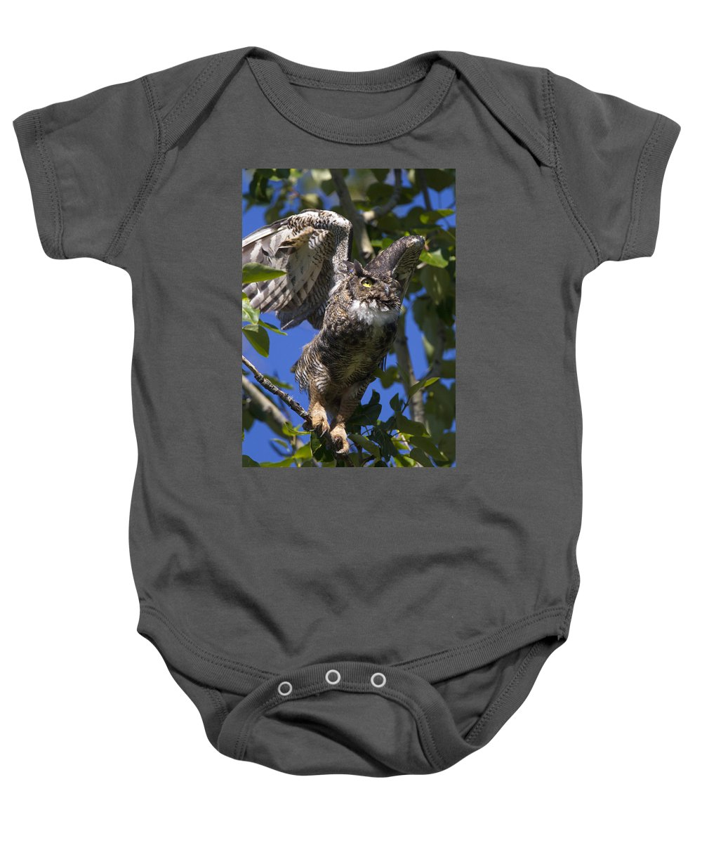 Doug Lloyd Baby Onesie featuring the photograph I'm Out Of Here by Doug Lloyd