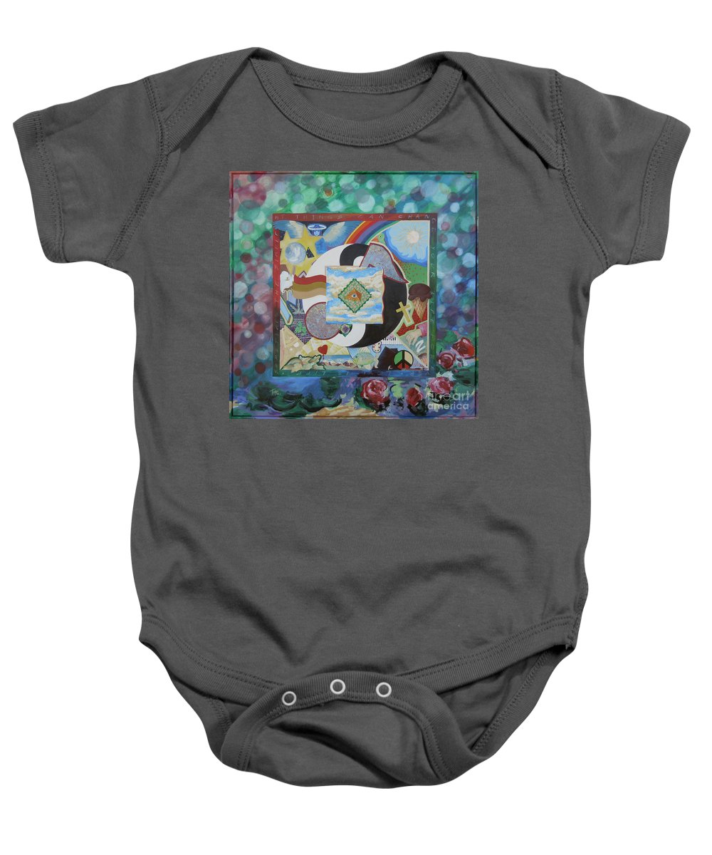 Rainbow Baby Onesie featuring the painting Image 97 by Tonya Henderson