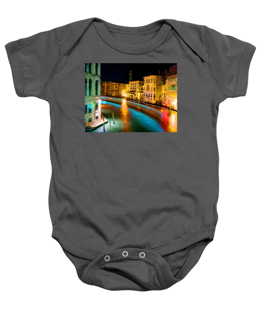 Baby Onesie featuring the digital art Impressionistic Photo Paint Gs 010 by Catf