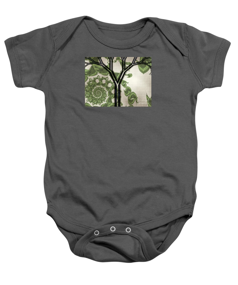In Like A Lion Baby Onesie featuring the digital art In Like A Lion by Kimberly Hansen