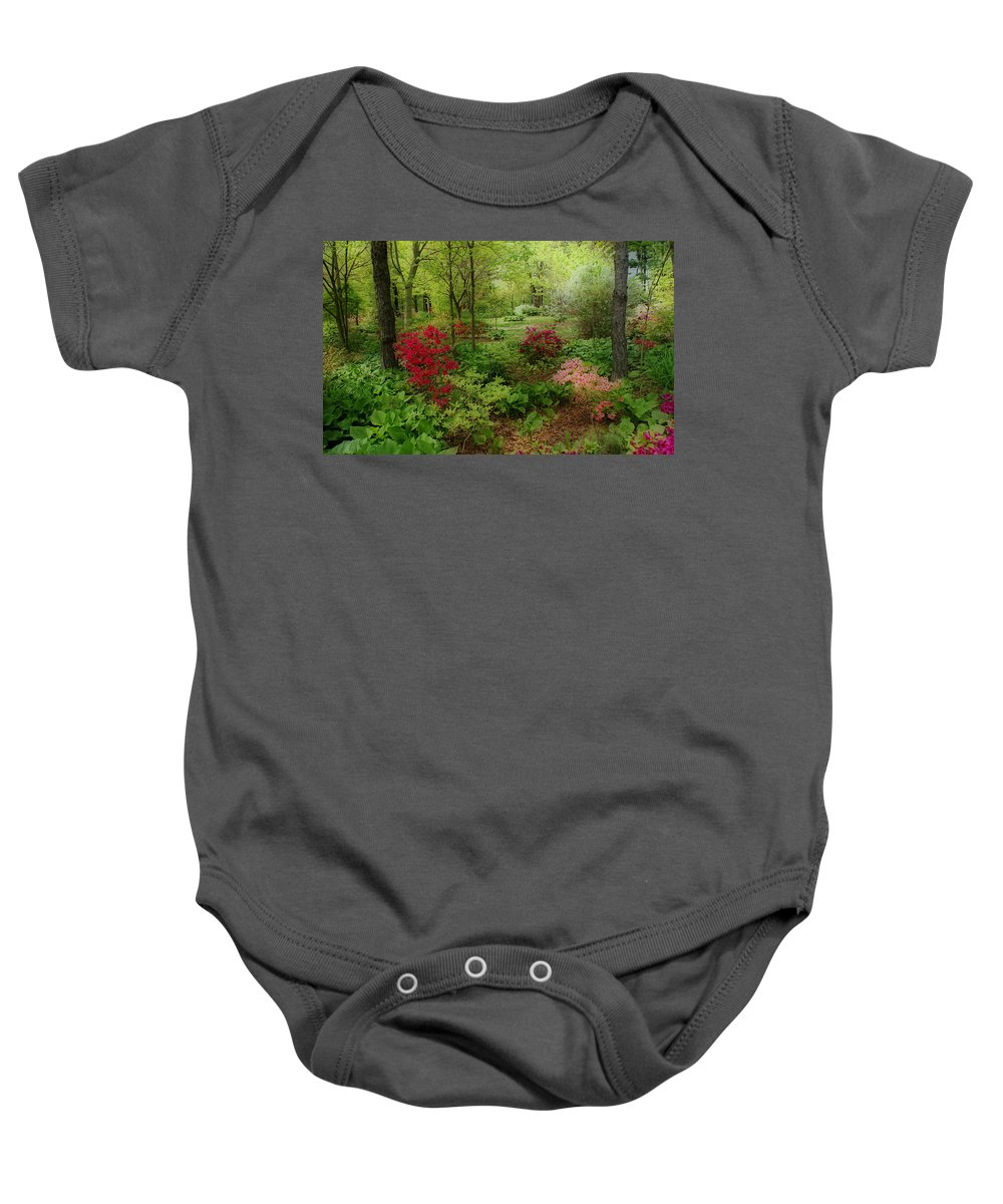 Gardens Baby Onesie featuring the photograph In My Dreams by Sandy Keeton