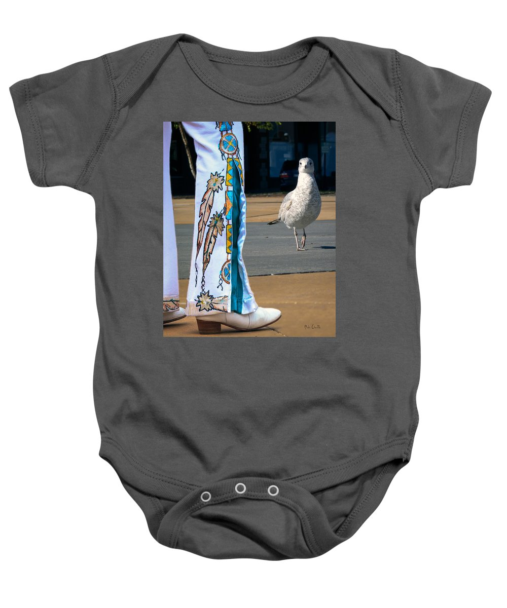 Elvis Baby Onesie featuring the photograph In Search Of Elvis by Bob Orsillo