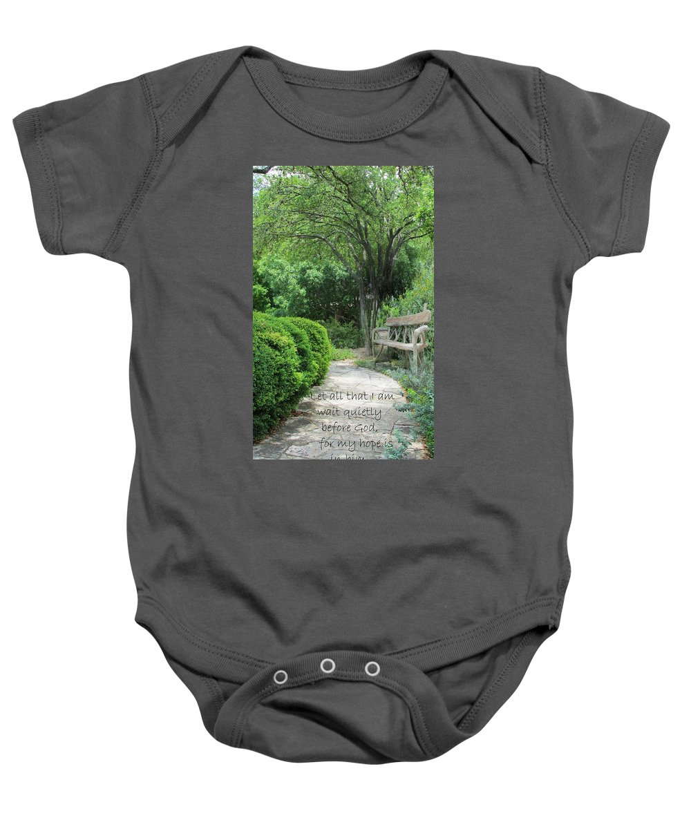 Garden Baby Onesie featuring the photograph In The Garden by Jewell McChesney