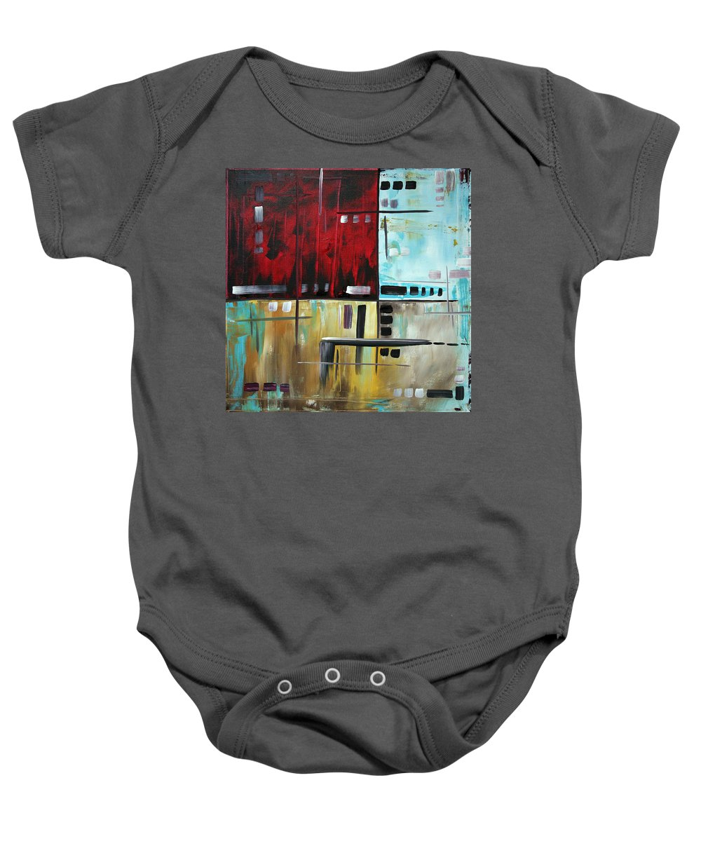 Wall Baby Onesie featuring the painting In The Maze I by Megan Duncanson
