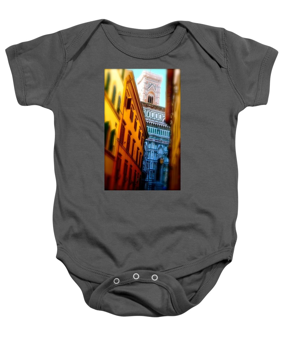 Florence Baby Onesie featuring the photograph In The Shadow Of Splendor by Ira Shander