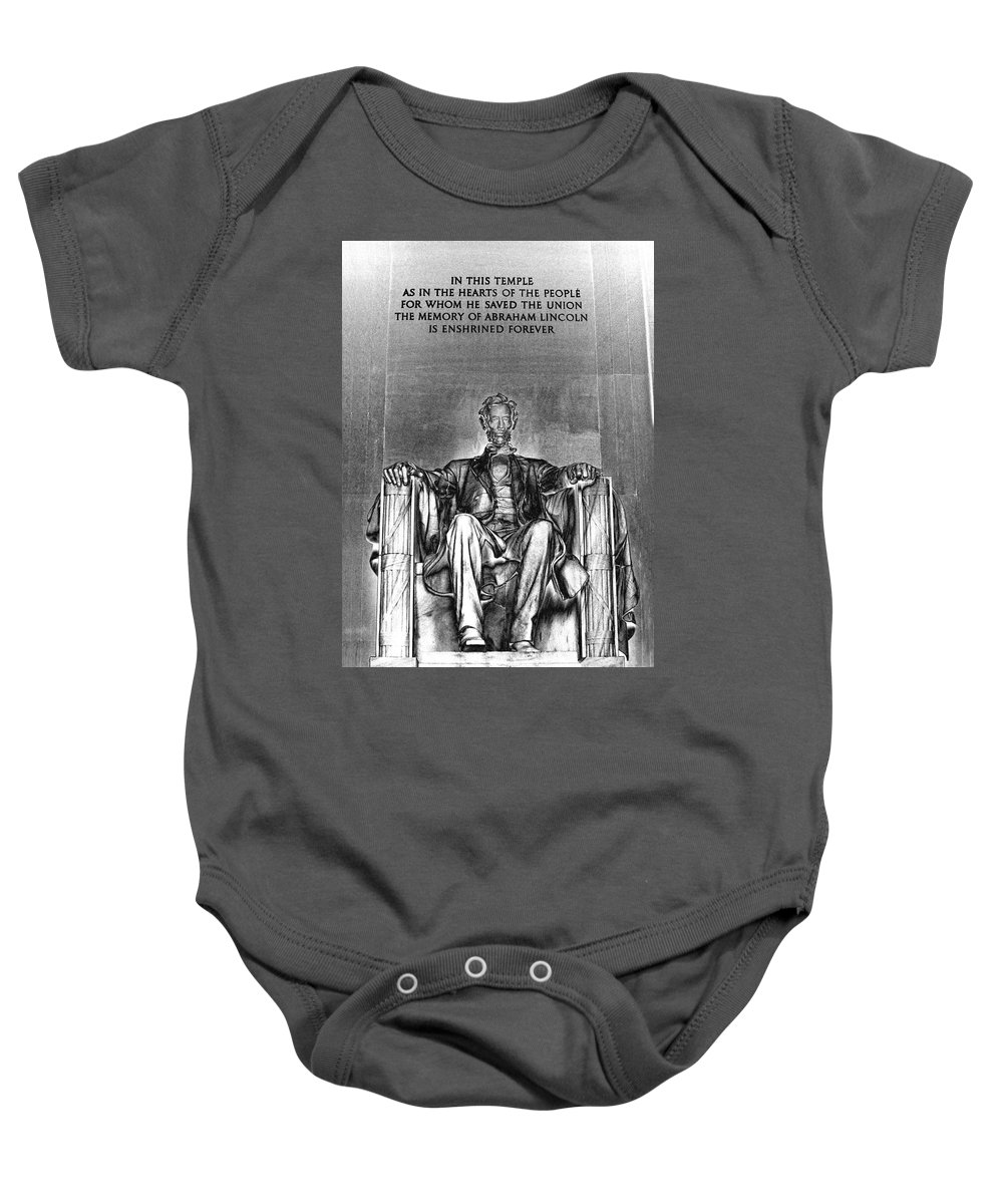 Lincoln Baby Onesie featuring the photograph In This Temple by Paul W Faust - Impressions of Light