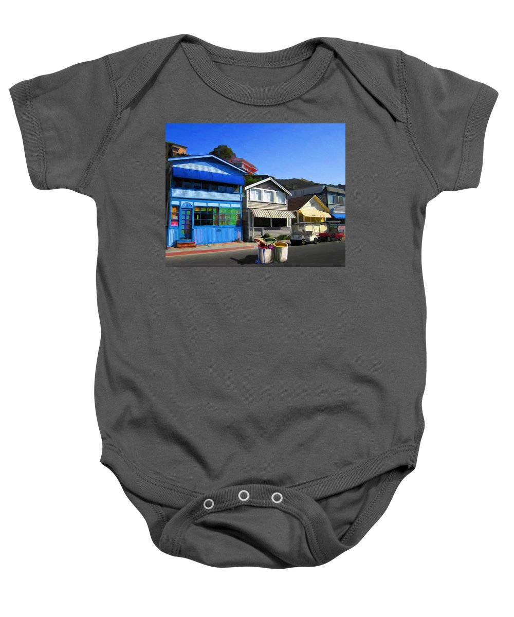 House Baby Onesie featuring the painting Individualism by Snake Jagger