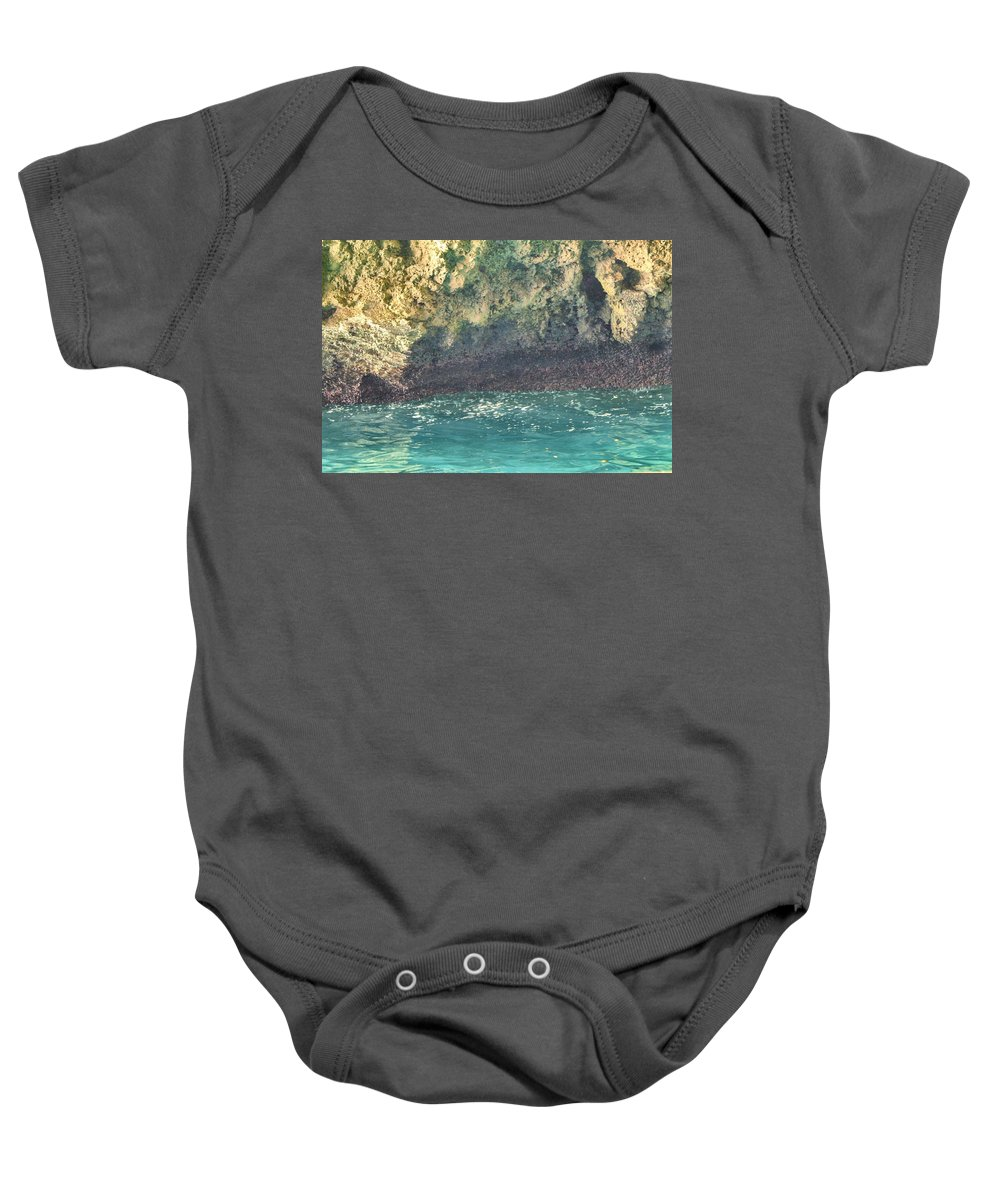 Cave Baby Onesie featuring the photograph Inside the Cave by Debbie Levene