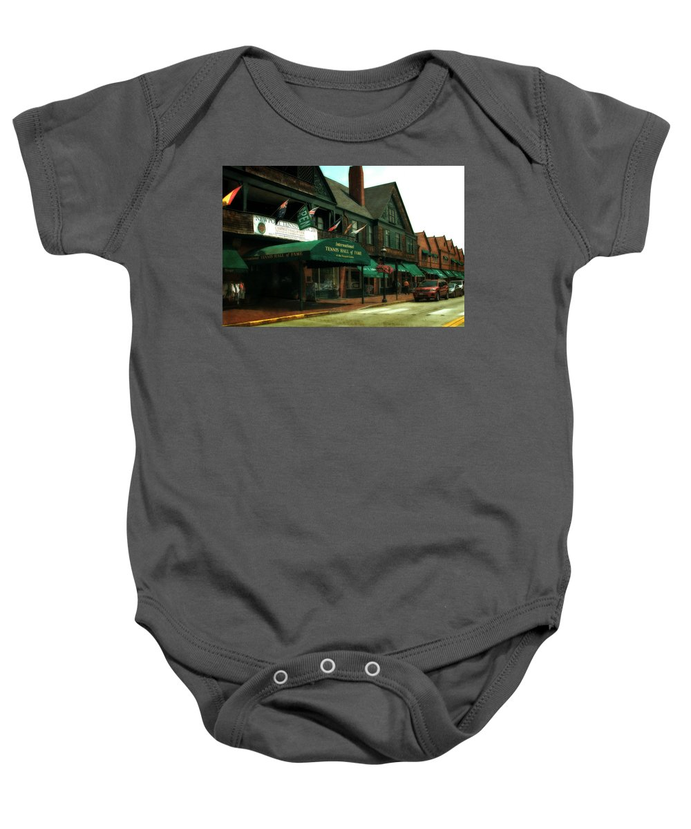 Newport Baby Onesie featuring the photograph International Tennis Hall Of Fame by Michelle Calkins