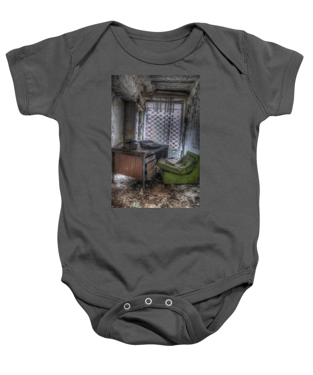 Berlin Baby Onesie featuring the digital art Iraq Office by Nathan Wright