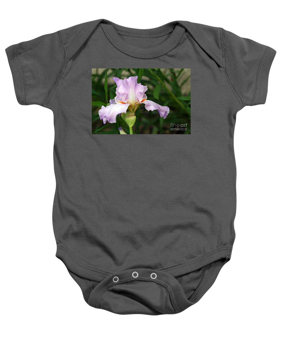 Iris Baby Onesie featuring the photograph Iris by Karen Adams