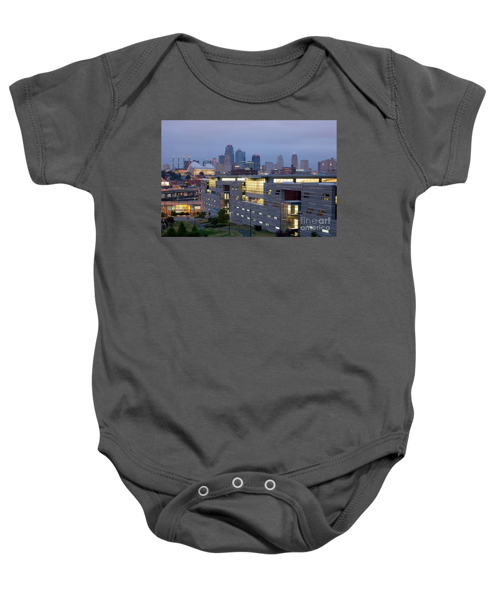 Irs Baby Onesie featuring the photograph Irs Complex In Downtown Kansas City Mo by Bill Cobb