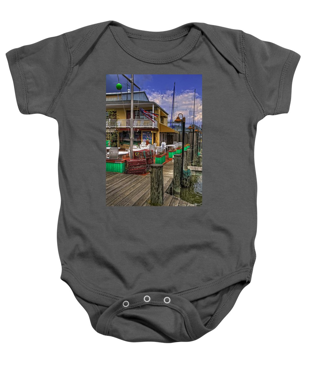Bar Baby Onesie featuring the photograph Is It Five O'clock Yet by Lois Bryan