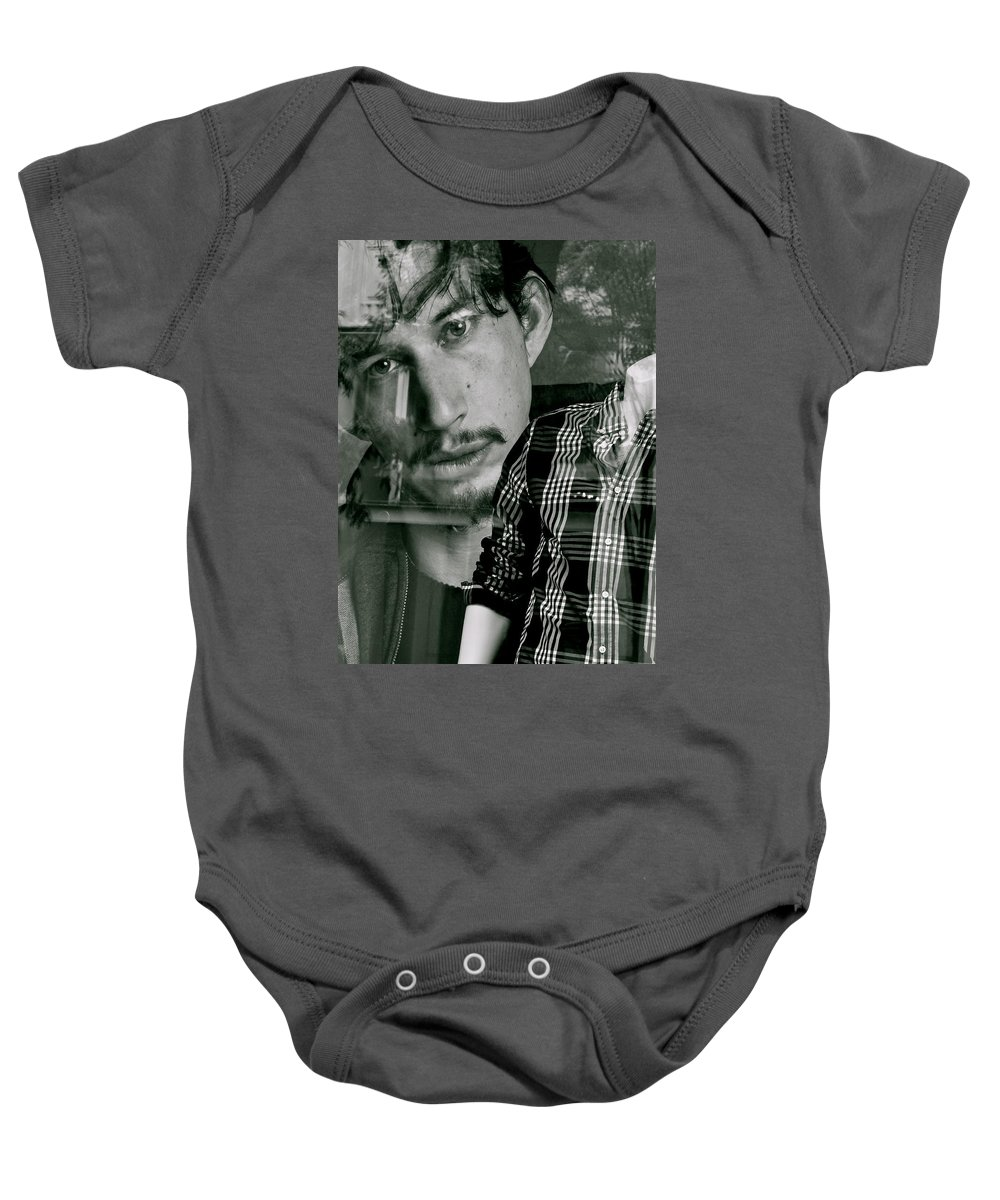 Young Men Baby Onesie featuring the photograph It's A Shirt by Ira Shander