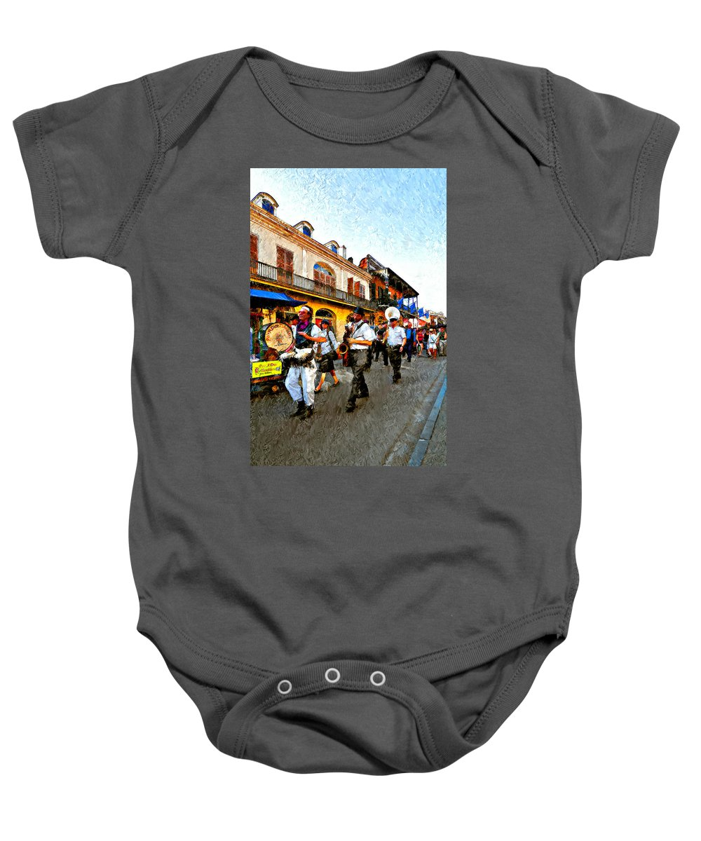French Quarter Baby Onesie featuring the photograph Jazz Funeral II by Steve Harrington