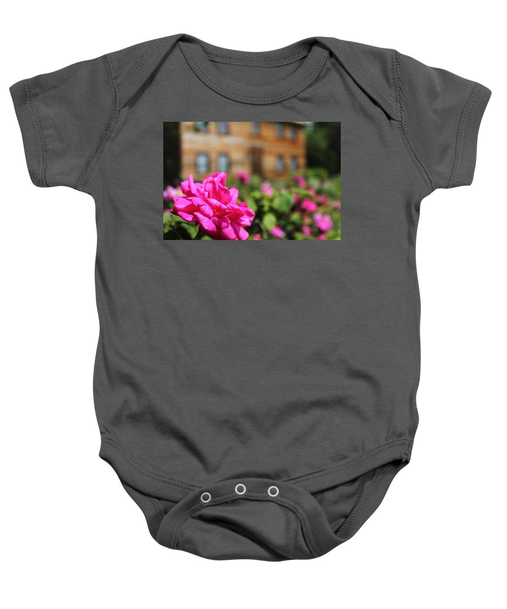 Job Lane House Baby Onesie featuring the photograph Job Lane House by Jeff Heimlich