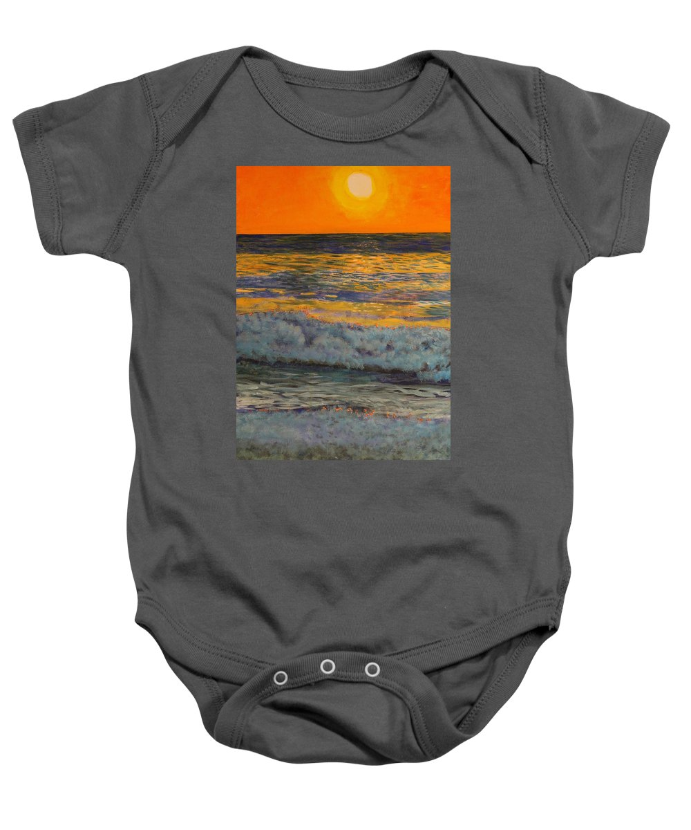Landscape Baby Onesie featuring the painting Joe's Cape Cod by William Tremble