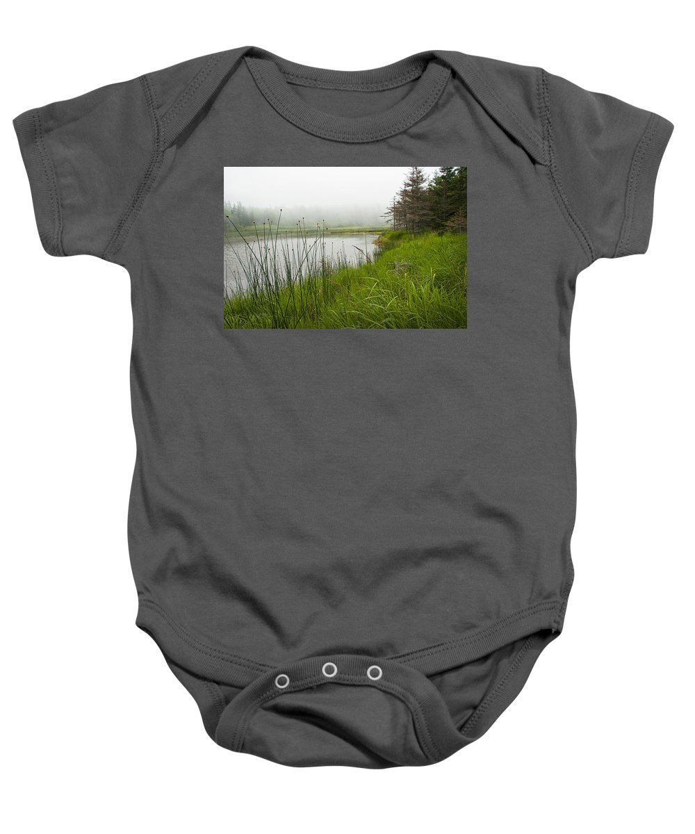 Art Baby Onesie featuring the photograph Jordan Pond In Acadia National Park by Randall Nyhof