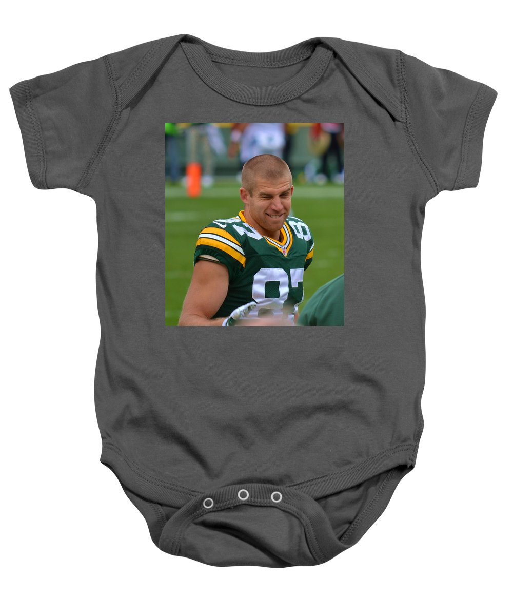 Jordy Nelson Baby Onesie featuring the photograph Jordy by Melody Yerge