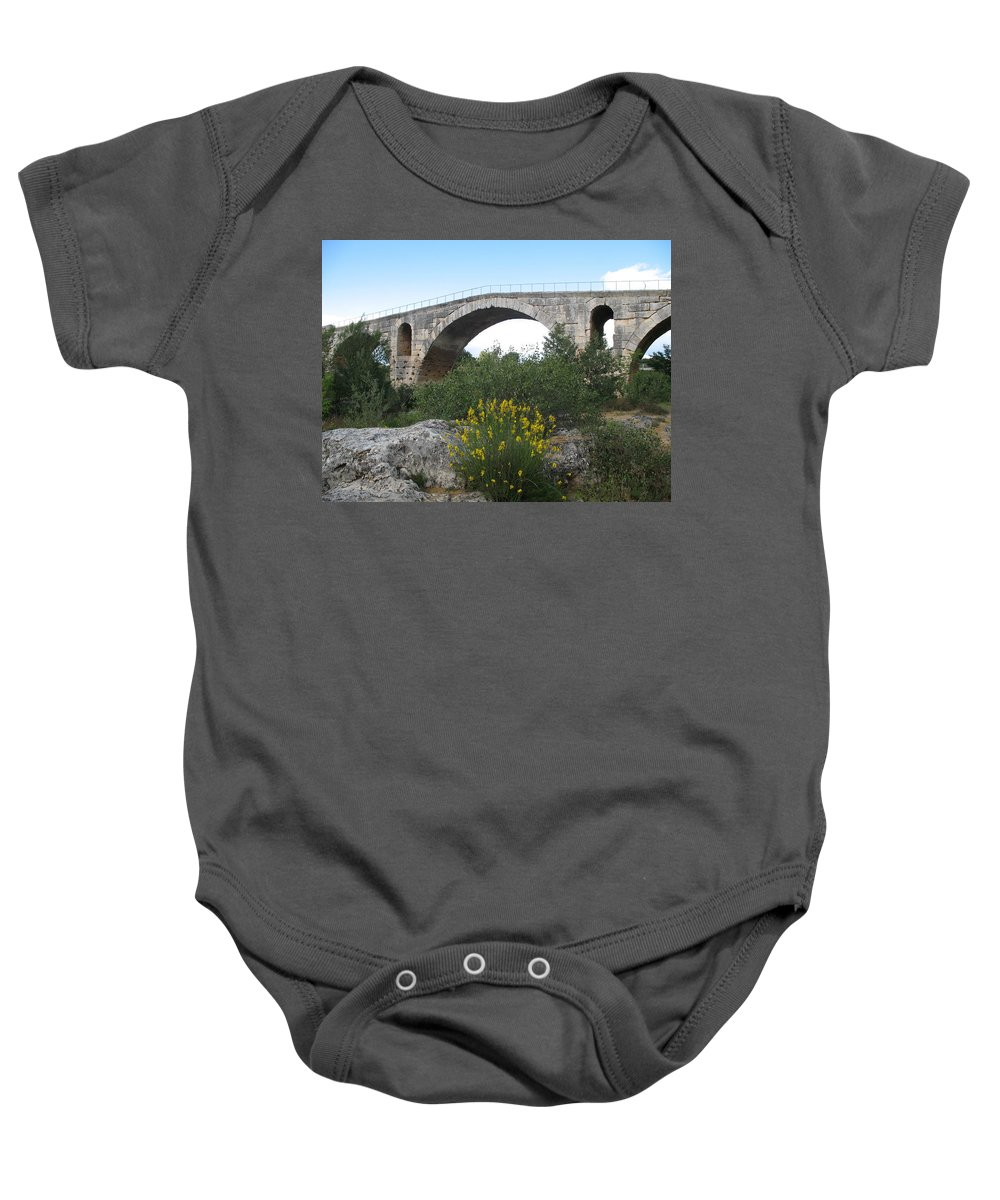Roman Stonebridge Baby Onesie featuring the photograph Julian Bridge Provence by Christiane Schulze Art And Photography