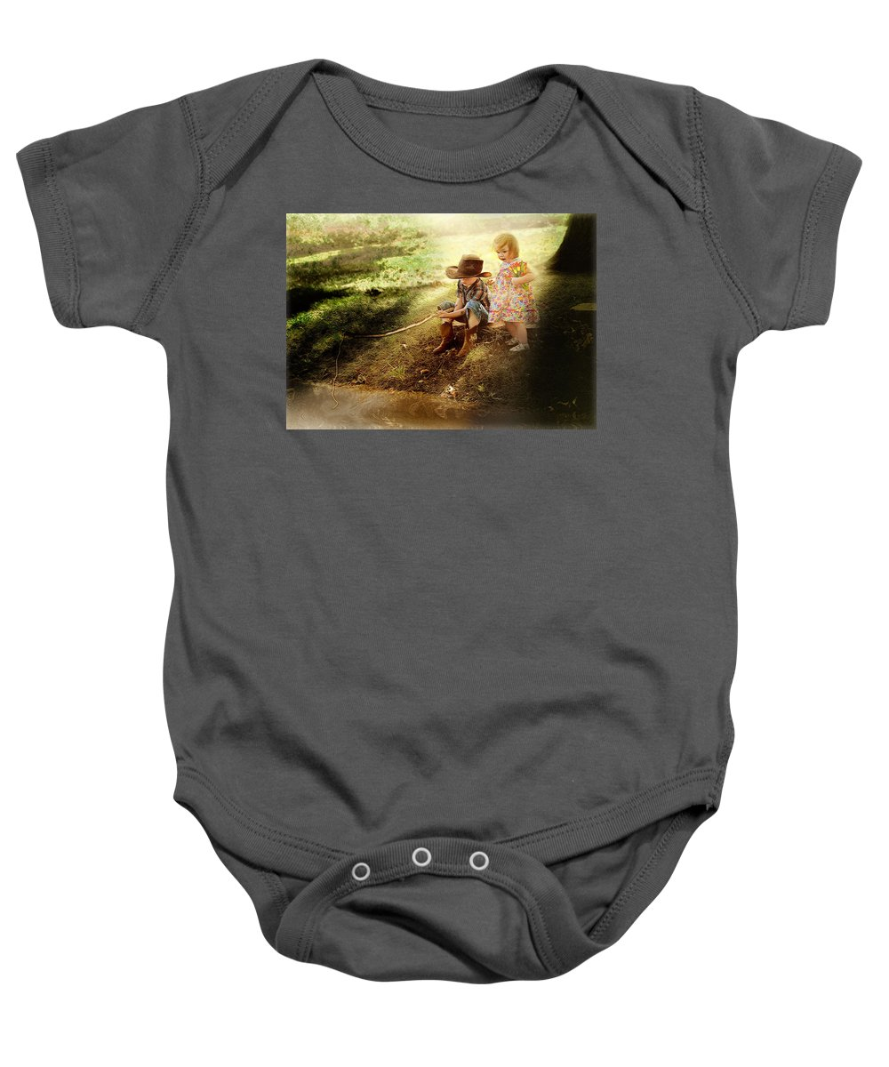 Fishing Baby Onesie featuring the photograph Just Fishin' by John Anderson