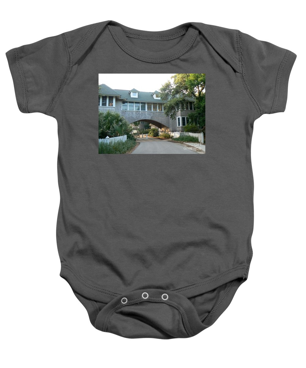 Bald Head Island Baby Onesie featuring the photograph Just Passing Through by Dona Dugay