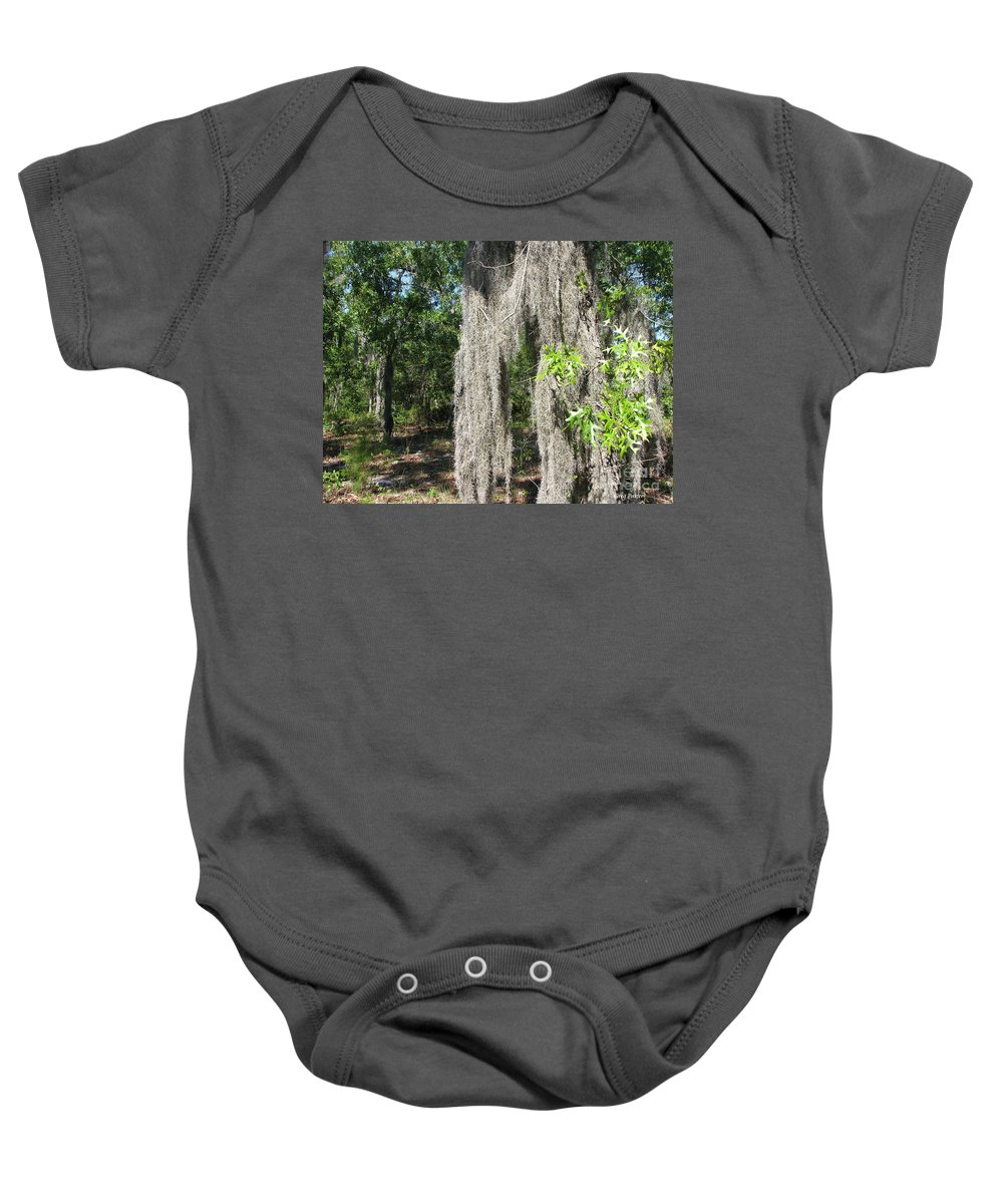 Patzer Baby Onesie featuring the photograph Just The Backyard by Greg Patzer
