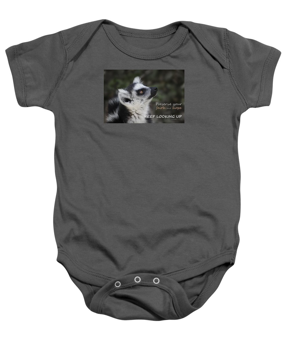 Keep Looking Up Baby Onesie featuring the photograph Keep Looking Up by Liz Leyden