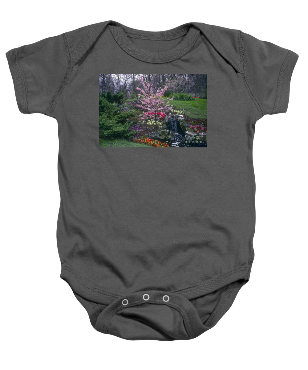 Keukenhof Gardens Baby Onesie featuring the photograph Keukenhof Color by Bob Phillips