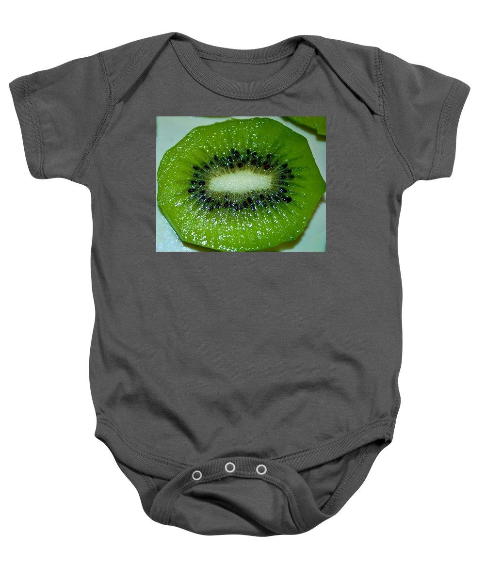 Organic Baby Onesie featuring the photograph Kiwi Twang by Tikvah's Hope