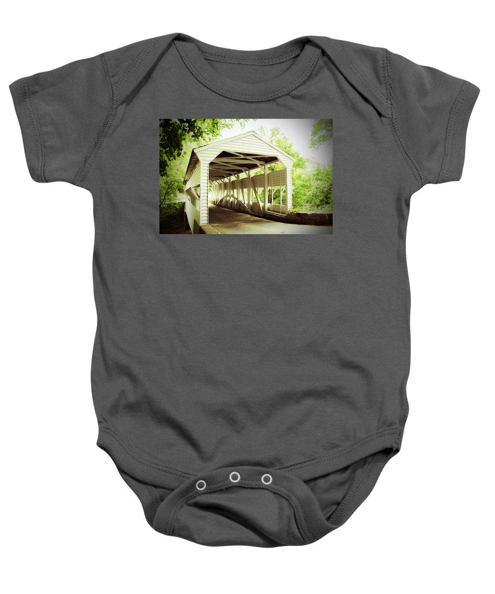 Knox Bridge Baby Onesie featuring the photograph Knox Bridge by Michael Porchik