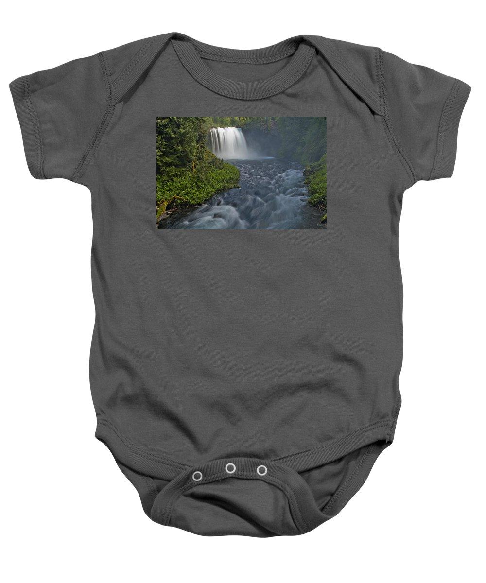 Koosah Baby Onesie featuring the photograph Koosah Falls by Paul Riedinger