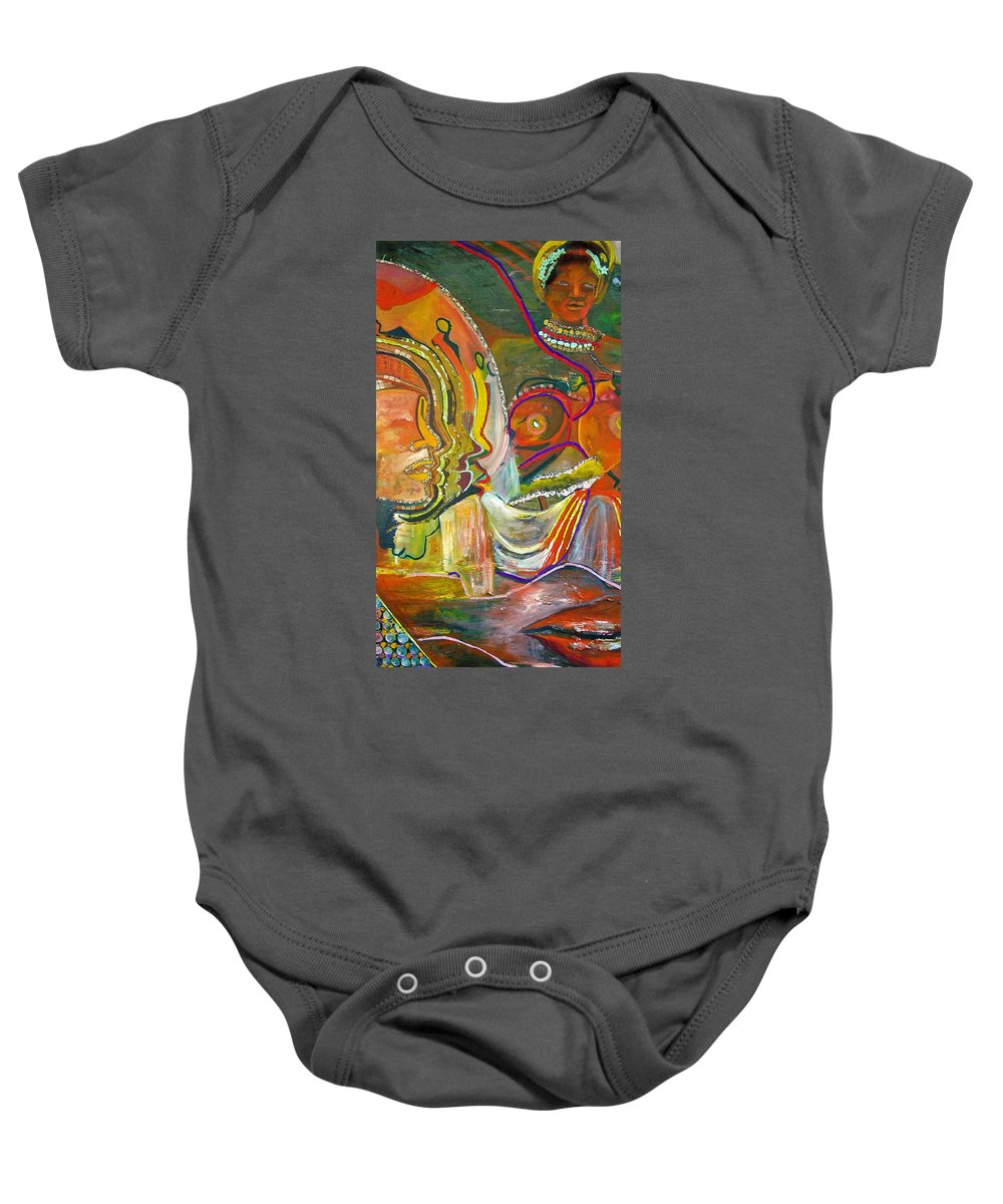 Impressionism Baby Onesie featuring the painting Koulikoro Woman by Peggy Blood