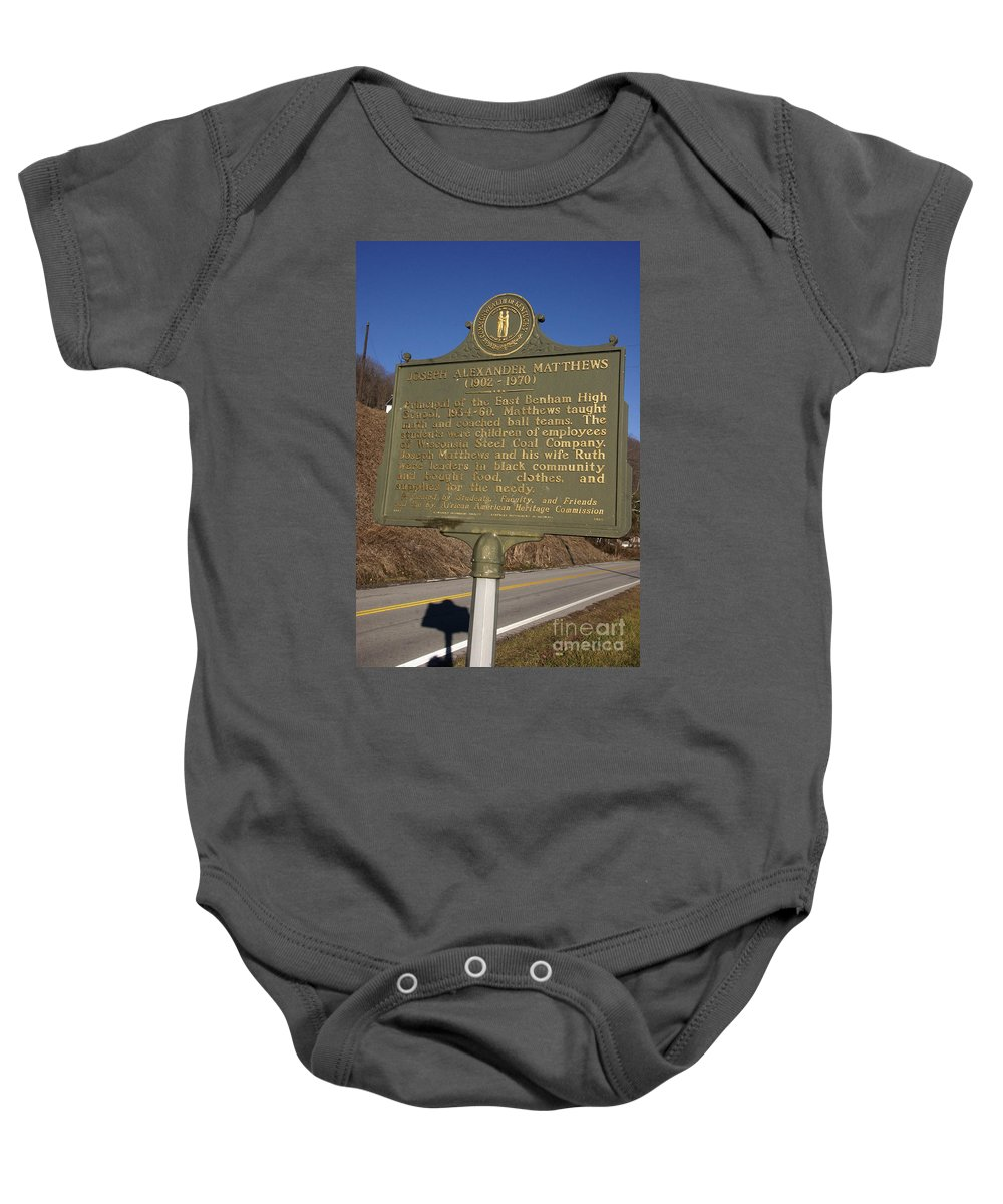 Travel Baby Onesie featuring the photograph Ky-1995 Joseph Alexander Matthews 1902-1970 by Jason O Watson