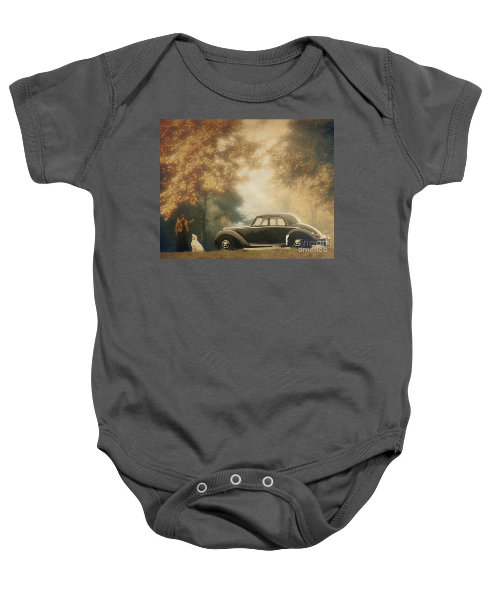 Classic Baby Onesie featuring the photograph Kylie With The Riley by Edmund Nagele