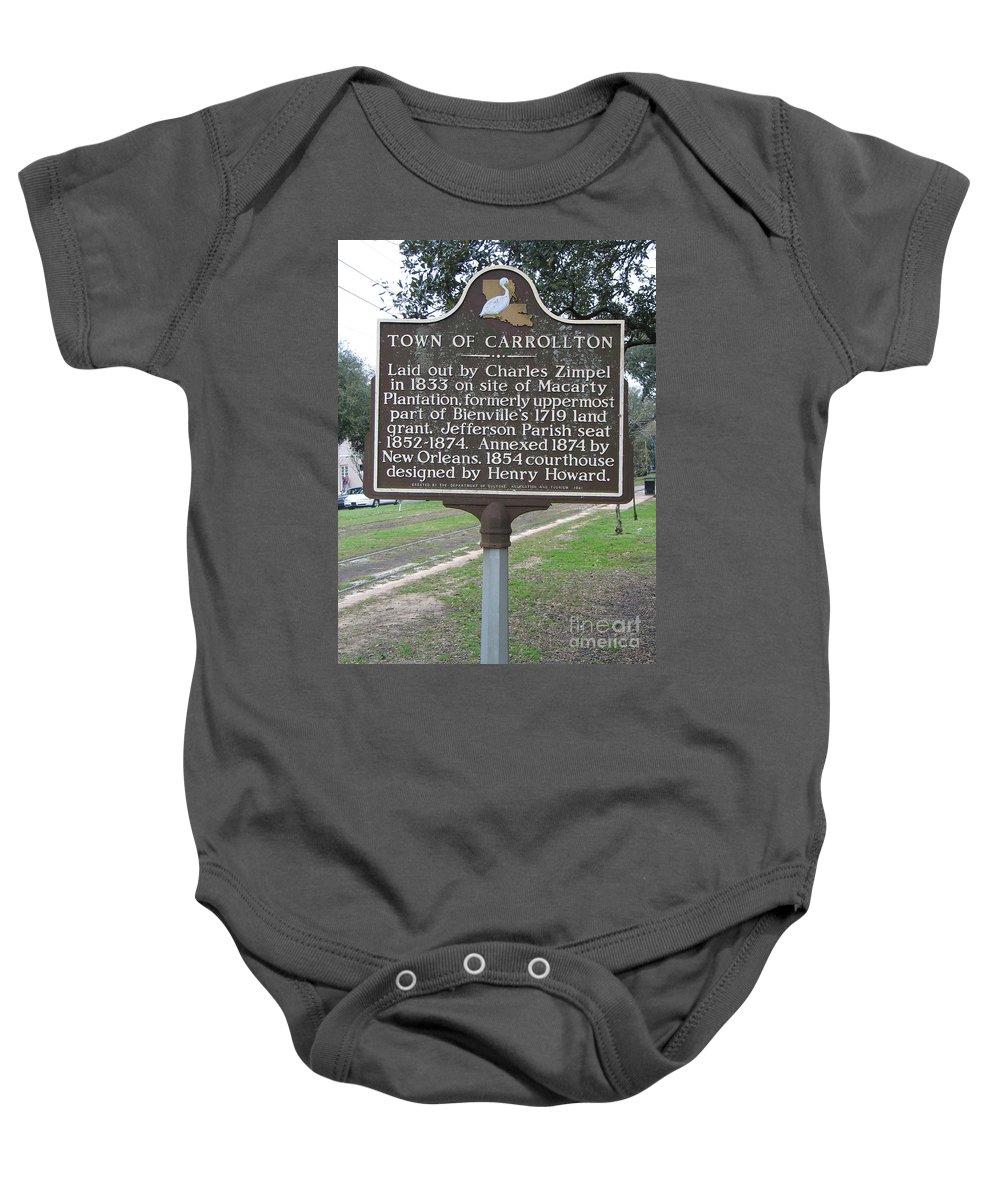 Carrollton Baby Onesie featuring the photograph La-007 Town Of Carrollton by Jason O Watson