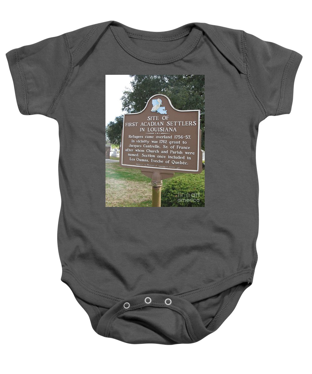 First Acadian Settlers Baby Onesie featuring the photograph La-029 Site Of First Acadian Settlers In Louisiana by Jason O Watson