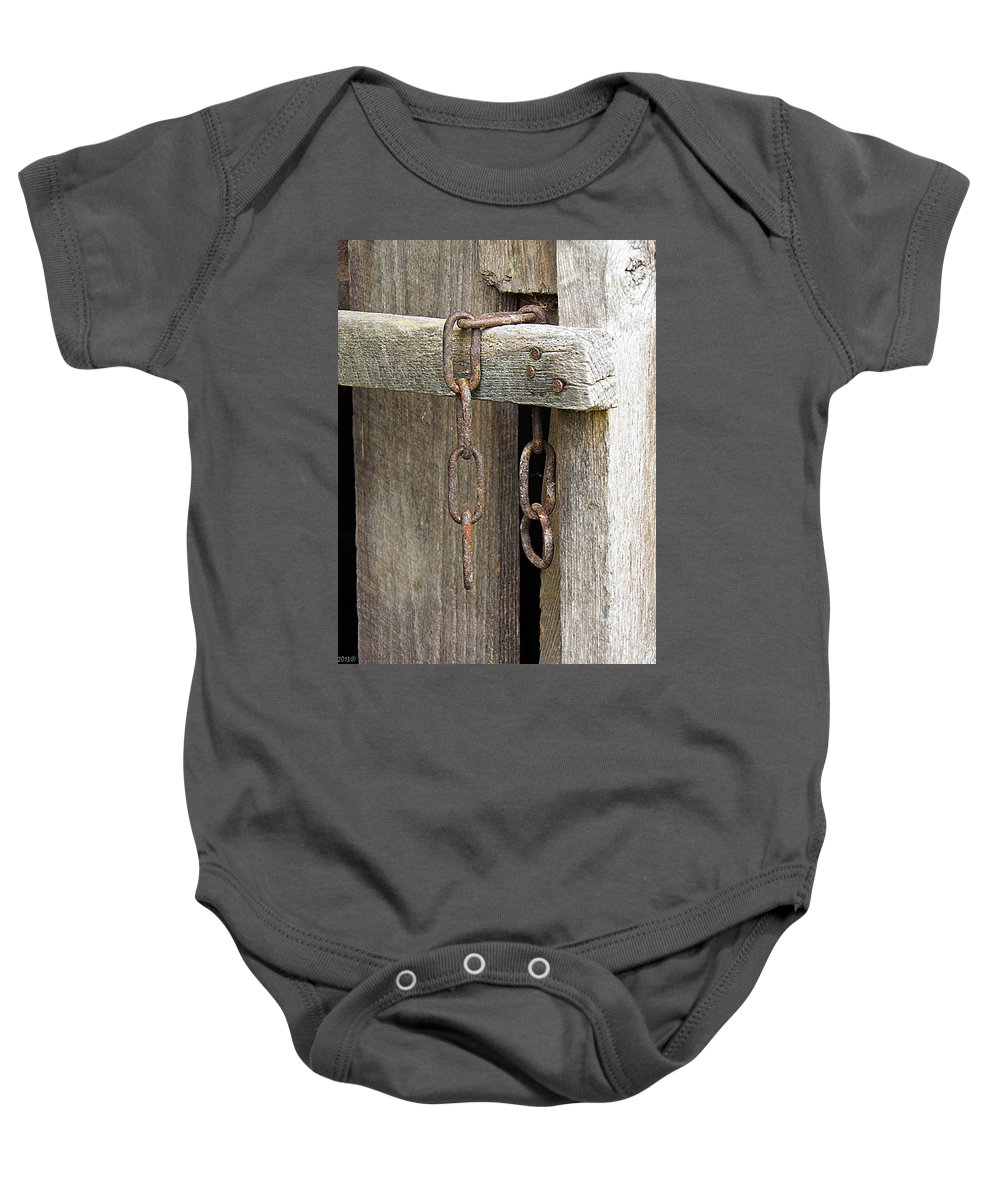 Ladder Baby Onesie featuring the photograph Ladder Chain Color by Nick Kirby