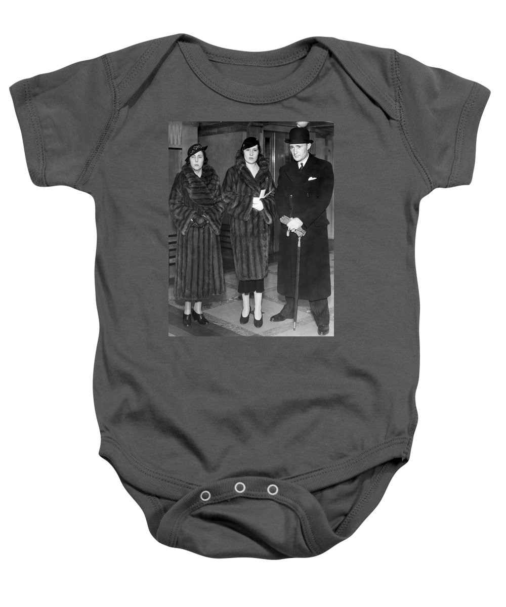 1934 Baby Onesie featuring the photograph Lady Furness Assist In Custody by Underwood Archives