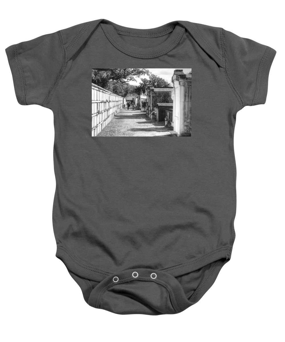 New Orleans Cemeteries Baby Onesie featuring the photograph Lafayette Cemetery 2 by William Morgan